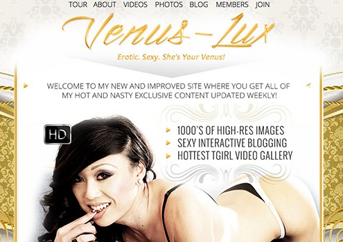 One of the best pay sex sites for tranny true lovers, featuring the unique Venus Lux, half Chinese-half Mongolian transsexual star.