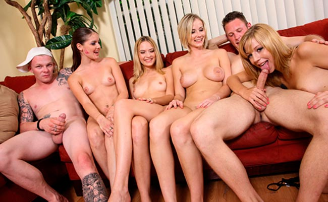 Nice pay xxx site for the lovers of gangbang porn movies
