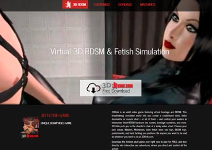 Greatest pay adult site providing 3d bondage porn action