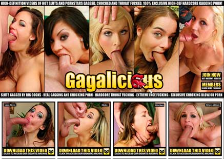 Good paid adult site featuring gagging porn material