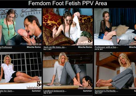 Top premium porn website if you like foot fetish adult action